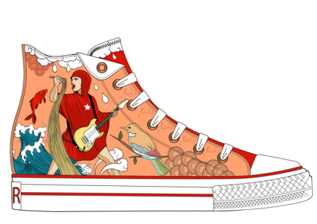 Artwork by Dennis Juan Ma for Converse RED